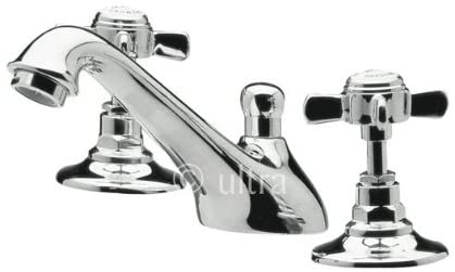 Ultra Beaumont 3 Tap Hole Basin Mixer Tap with Pop Up Waste