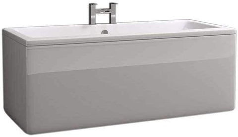 Synergy Berg Cubic 1700 x 750mm No Tap Holes Premier Finish Double Ended Bath