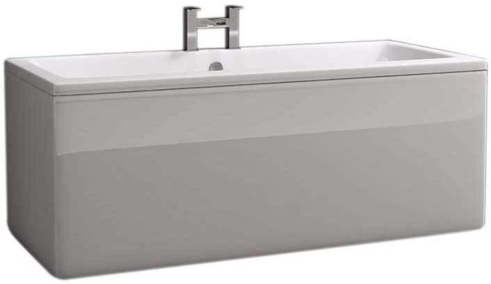 Synergy Berg Cubic 1700 x 700mm No Tap Holes Premier Finish Double Ended Bath