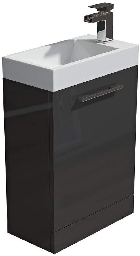 Synergy Quad 400mm Grey Vanity Unit