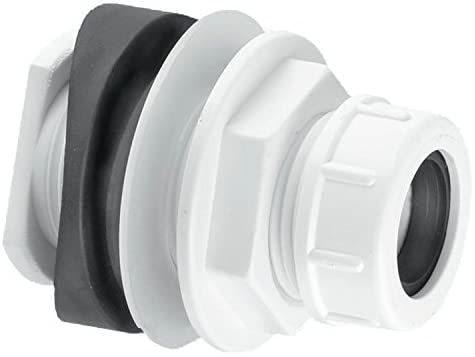 McAlpine Bossconn 22 mm Water Pipe Connector - White