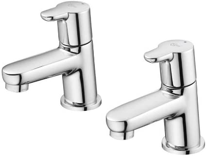 Ideal Standard B9925AA Chrome Concept Blue Double Handle Pillar Taps,
