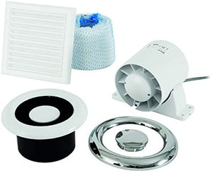 Xpelair AL100 93288AW 'Airline' Inline Shower Extractor Fan (Standard Model- NO Timer)