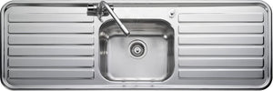 Leisure LX155 Sink with Top-Mounted Sink, Rectangular, Stainless Steel, 1 Bowls, Rectangular