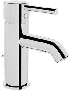 VitrA Minimax S Brassware Chrome Small Basin Mixer with Pop Up Waste