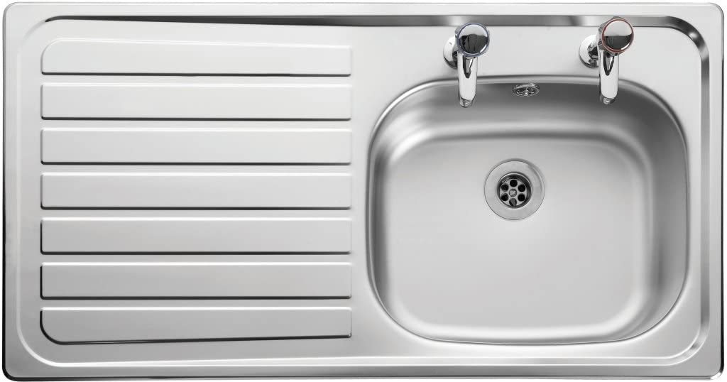 Leisure LE95L Steel Lexin 950 x 508 mm 1 Bowl Kitchen Sink TAP IS NOT INCLUDED THIS IS FOR THE SINK ONLY