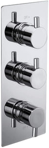 Synergy Triple Concealed Chrome Round 2 Way Diverter Shower Valve