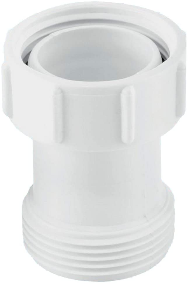 "McAlpine S12A-2 Female Male Coupling-1í«_"" BSP x 2"" Length, White"