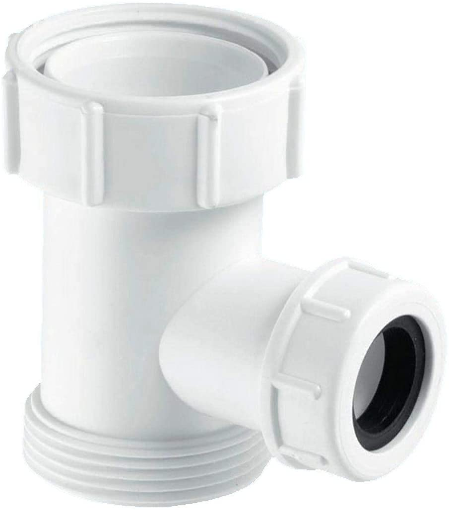 McAlpine Flush Pipe Tee Piece for WC Overflow V33S-22