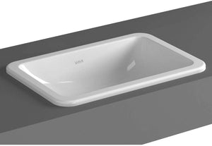 VitrA S20 White 55x37cm No Tap Hole S20 Countertop Basin Square