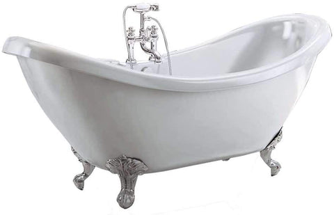 Synergy Marlow 1750mm Traditional Double Ended Slipper Bath SY-FSB307