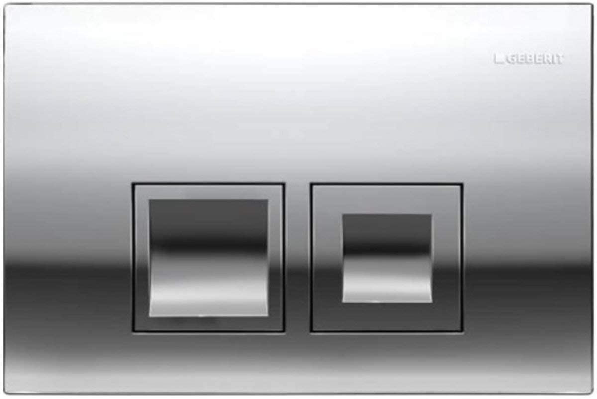 Geberit DELTA50 Gloss Chrome Dual Flush Plate Delta 50 UP100 Concealed Cisterns