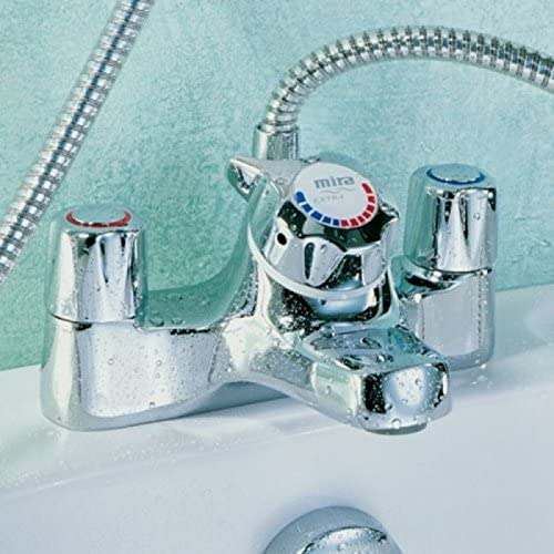 Mira Extra bath and thermostatic shower mixer tap in chrome. 2.1.122.27.2