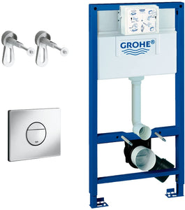 Grohe 118599 Rapid SL Set for WC with Flush Cistern 6 Litre 3-in-1