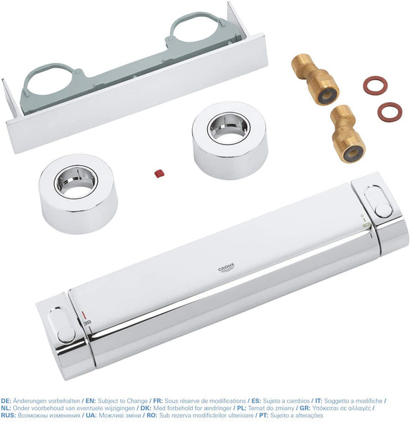 GROHE 34469001 Grohtherm 2000 Thermostatic Shower Mixer, Easyreach Tray