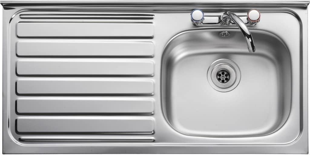 Leisure LC105 Flush-Mounted Sink Rectangular Stainless Steel 1 Bowls Rectangular