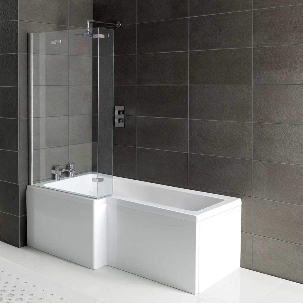 Arley Squrv2 1700mm No Tap Holes Left Hand Shower Bath Squrv2 Shower Baths