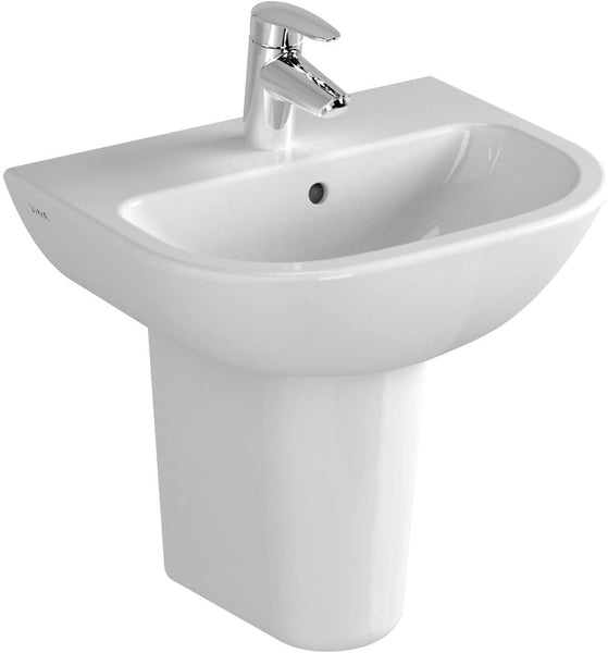 Vitra S20 Cloakroom Basin, 1 Tap Hole, 450mm Wide, White - Flush Bathrooms