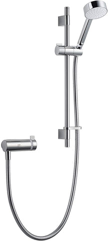 Mira Showers 1.1736.400 Agile SS EV Eco Single Outlet Mixer Shower, Chrome