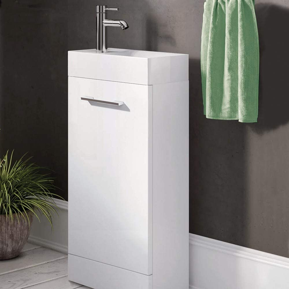 Synergy Quad 400mm White Vanity Unit