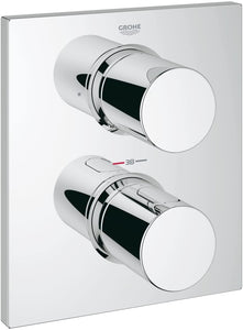 GROHE 27618000 Grohtherm F Thermostatic Shower Mixer with Diverter (Without Concealed Body Rapido)