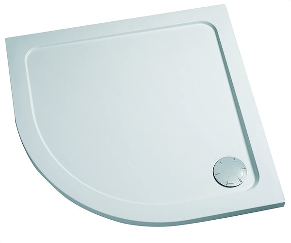 Mira Flight Low Profile Quadrant Shower Tray 800x800 2 UPS (Upstands) 1.1697.479.WH 550mm Radius With Slimline Waste Cover & Vortex Waste