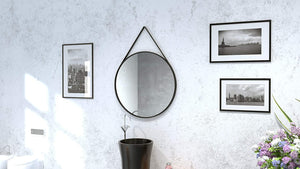 Speculo A1009 700 mm Circular Mirror with Leather Strap