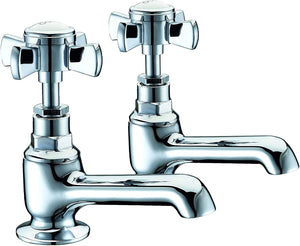 Trisen Wisley TT206 Pair of Bath Taps (Full Turn Operation)