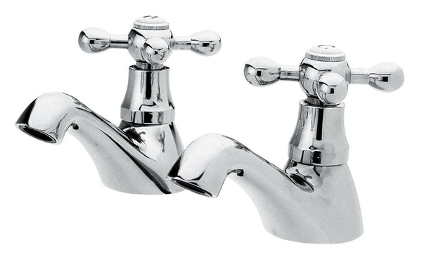 Bath Tap Pair in Chrome (Product Code: X382)