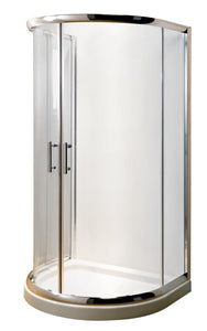 D-Shape Shower Enclosure and shower tray (Product Code: AQUD100)
