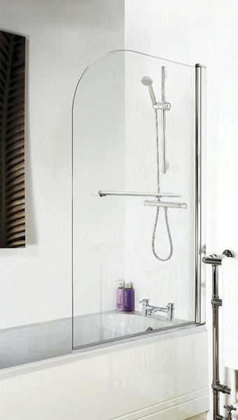 Polished Chrome Straight Bath Screen (various options)