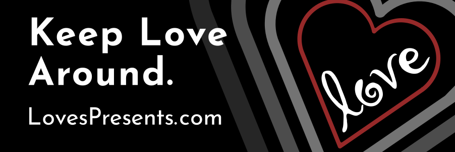 keep love around with concentric hearts