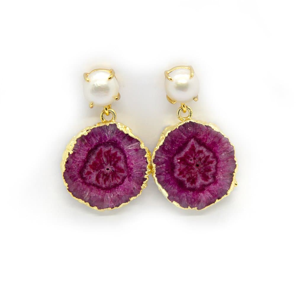 FLEURS DE GIVERNY EARRINGS Rhapsodie Jewellery