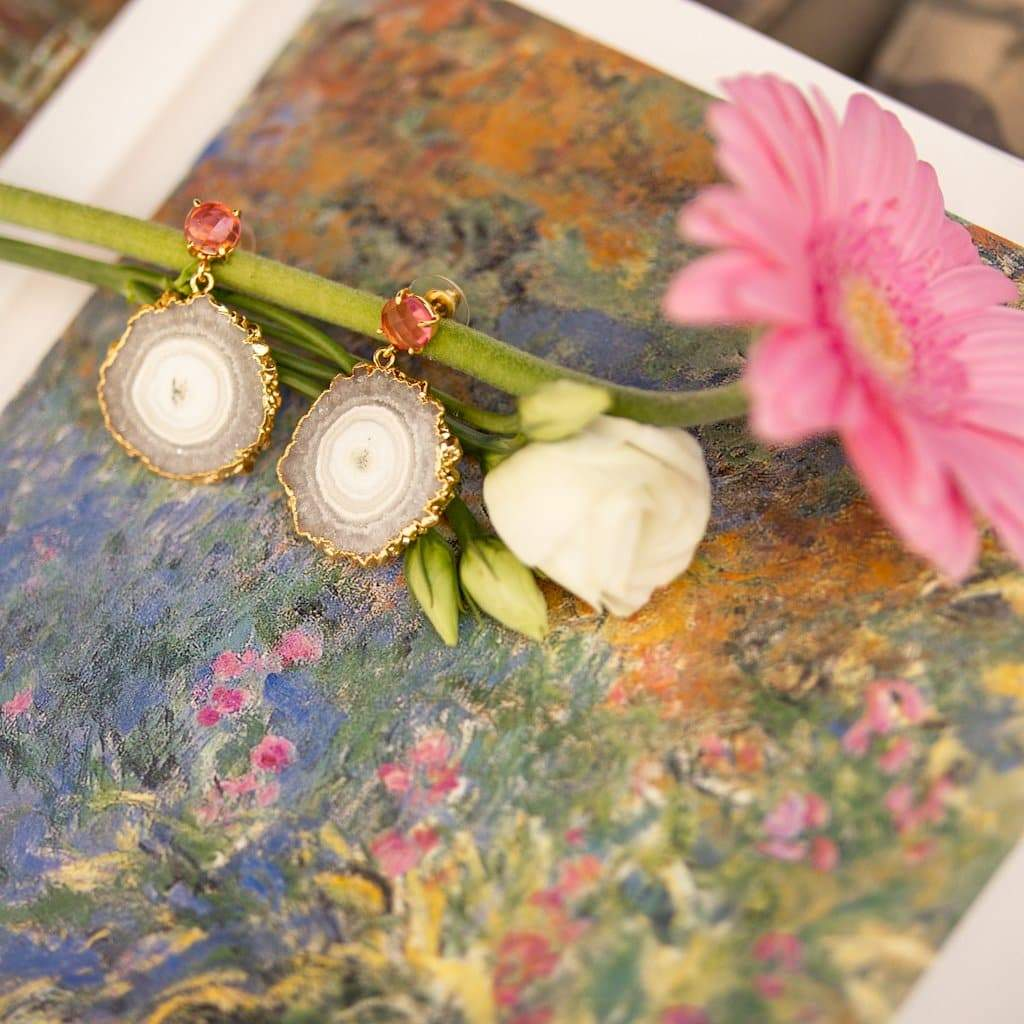 FLEURS DE LYS EARRINGS Rhapsodie Jewellery