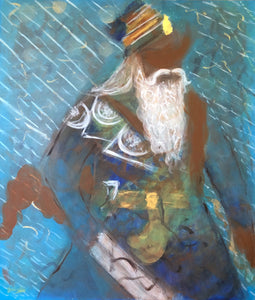 Baba Deep Singh Ji (Abstract Representational Art)
