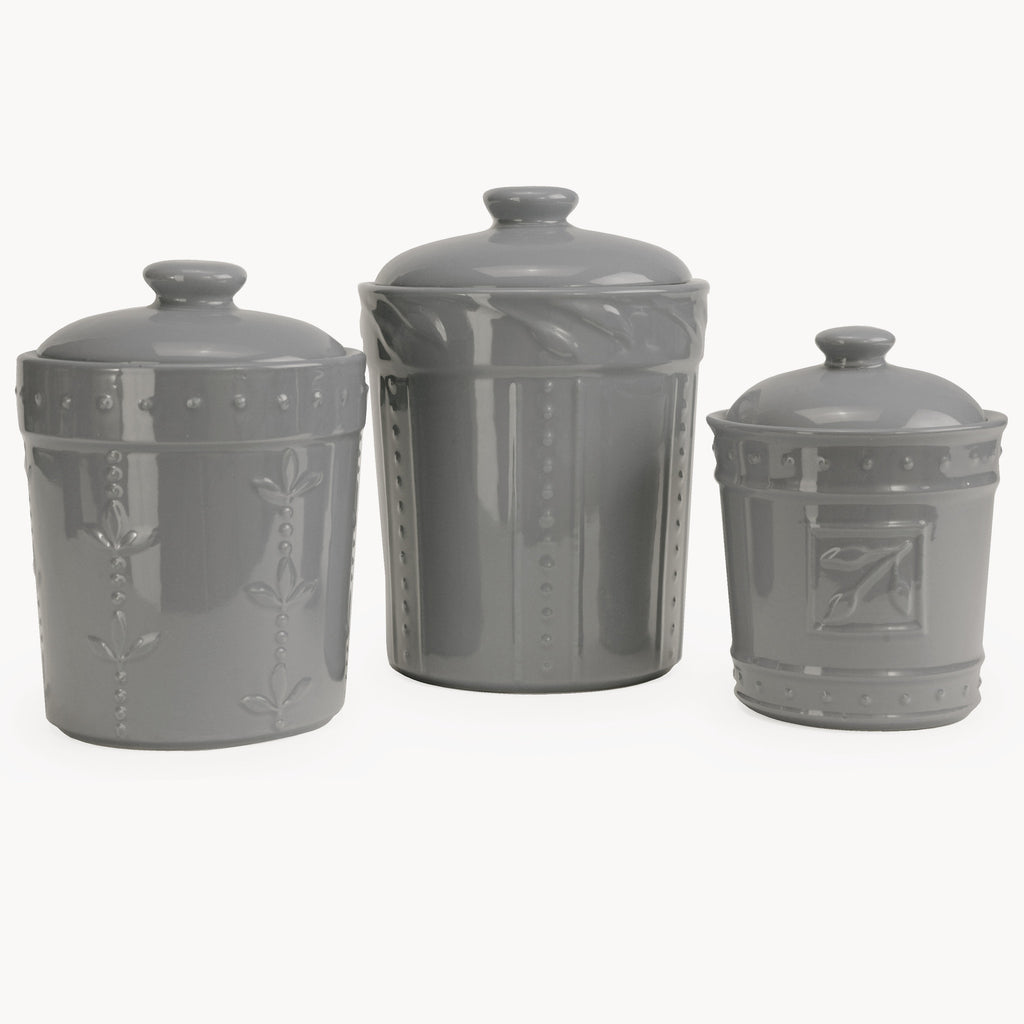 Sorrento Grey Canister Set