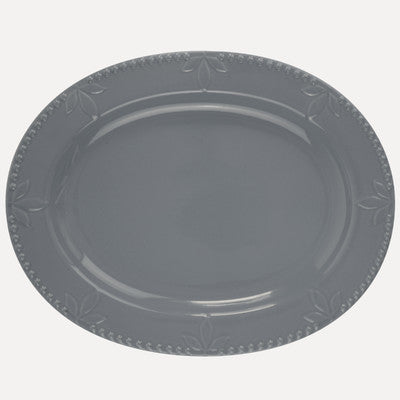 Sorrento Grey Oval Platter