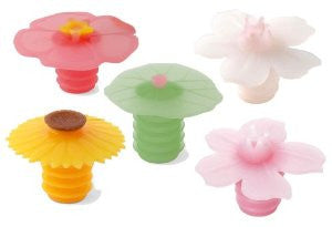 Charles Viancin Floral Bottle Stoppers