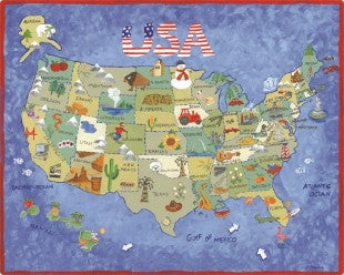 Magic Slice USA Map Gourmet Cutting Board