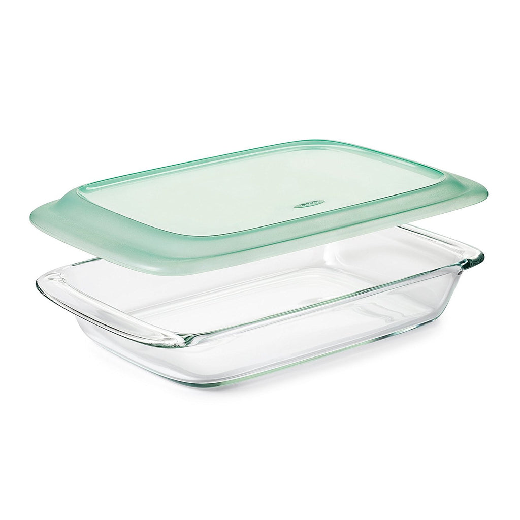 OXO Freezer-to-Oven Safe 3 Qt Glass Baking Dish with Lid