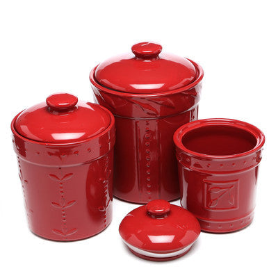 Sorrento Ruby Canister Set