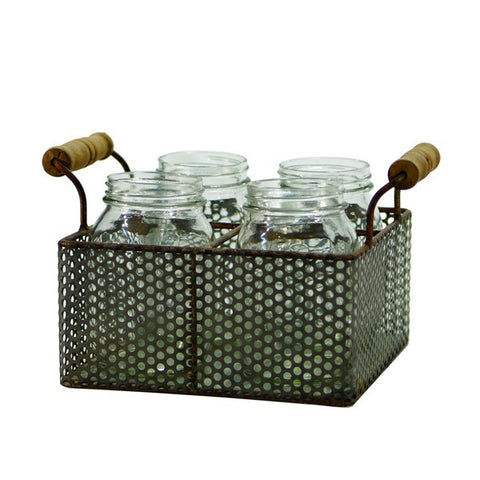 VIP Metal basket with 4 jars