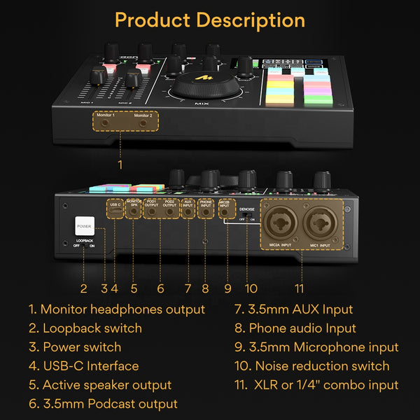 MAONOCASTER AM100 PROFESSIONAL SOUND CARD