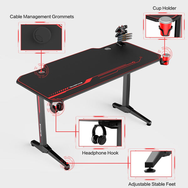 E-sports Gamer Tables with USB Gaming Handle with Rack&Mouse Pad