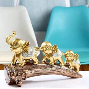 A Herd of Golden Elephant