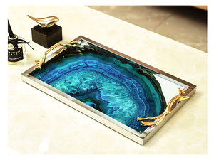 Blue Agate Pattern Tray