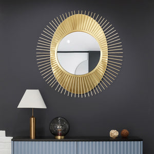 Luxurious Handmade Wrought Iron Mirror