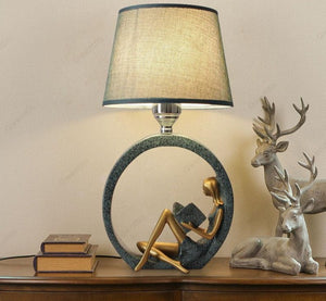 Reading Girl Table Lamp