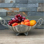 Antique Silver Fruit Decorative Plate