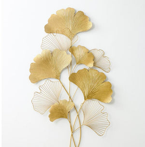 Golden Wrought Iron Leaves